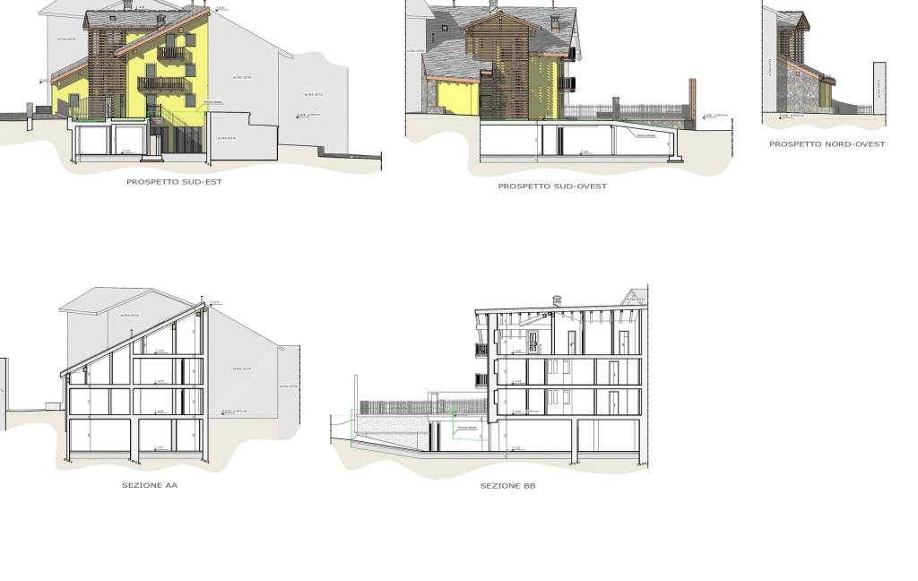 Aosta - Ristrutturazione edificio residenziale - Elaborato progettuale