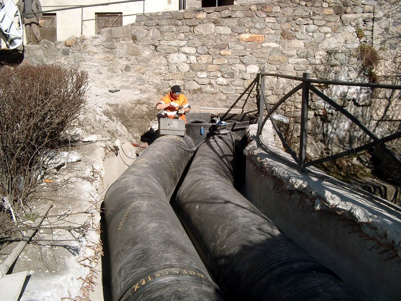Aosta - sistemazione canale Pont De Pierre
