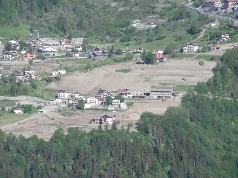 Torgnon - panoramica sistemazione terreni oggetto di riordino fondiario