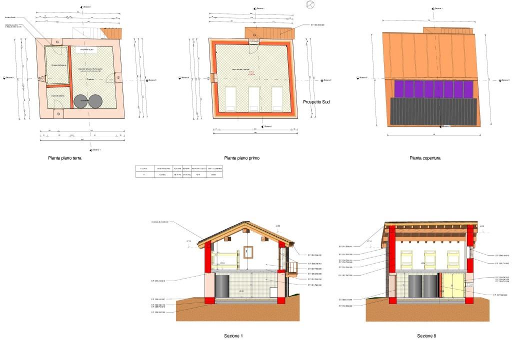 Donnas - Rifugio Alpino - elaborato progettuale