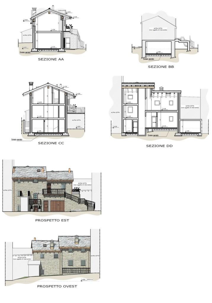 Nus - Ristrutturazione edificio residenziale - Elaborati progettuali